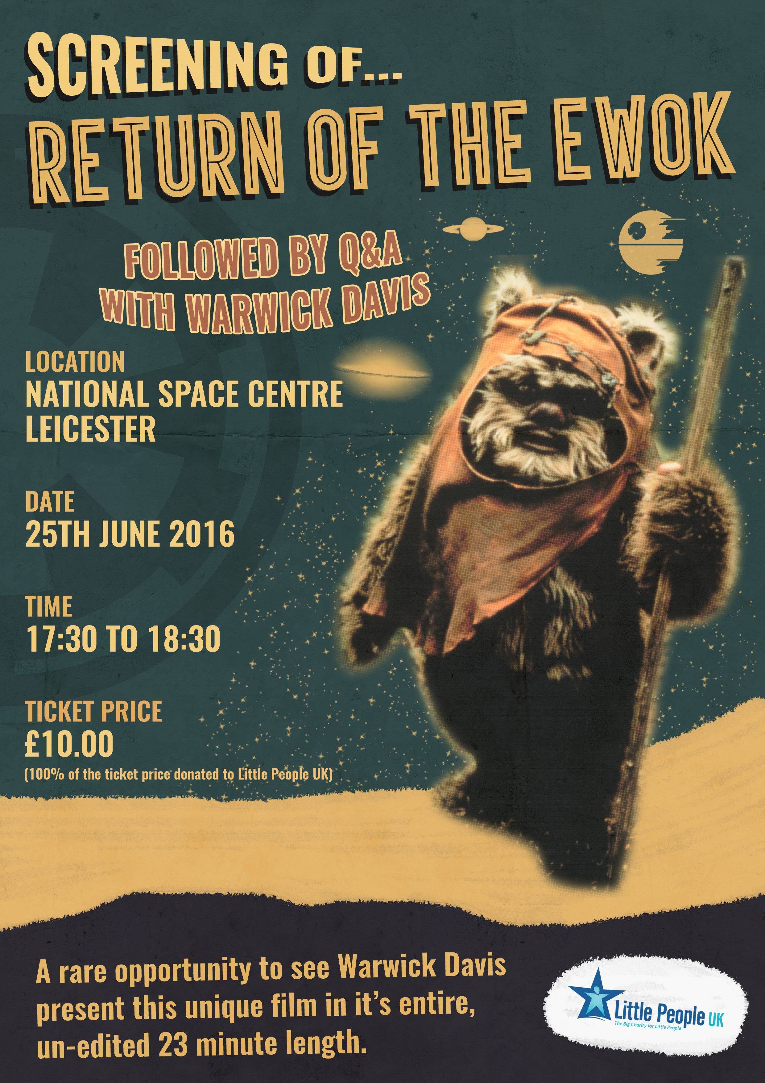 Star Wars poster Return Of The Ewok