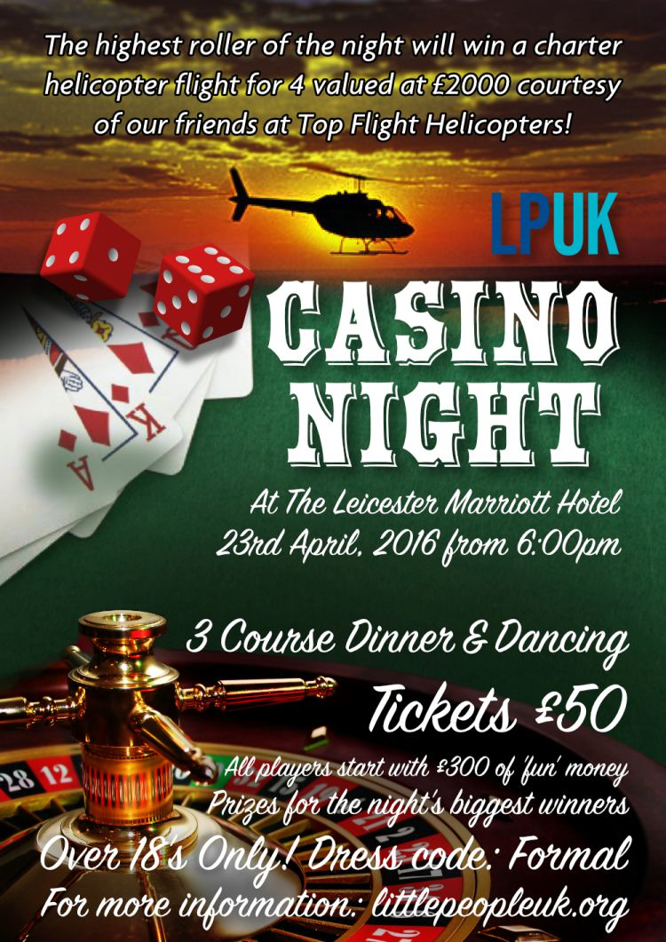 Casino Night HELICOPTER Poster