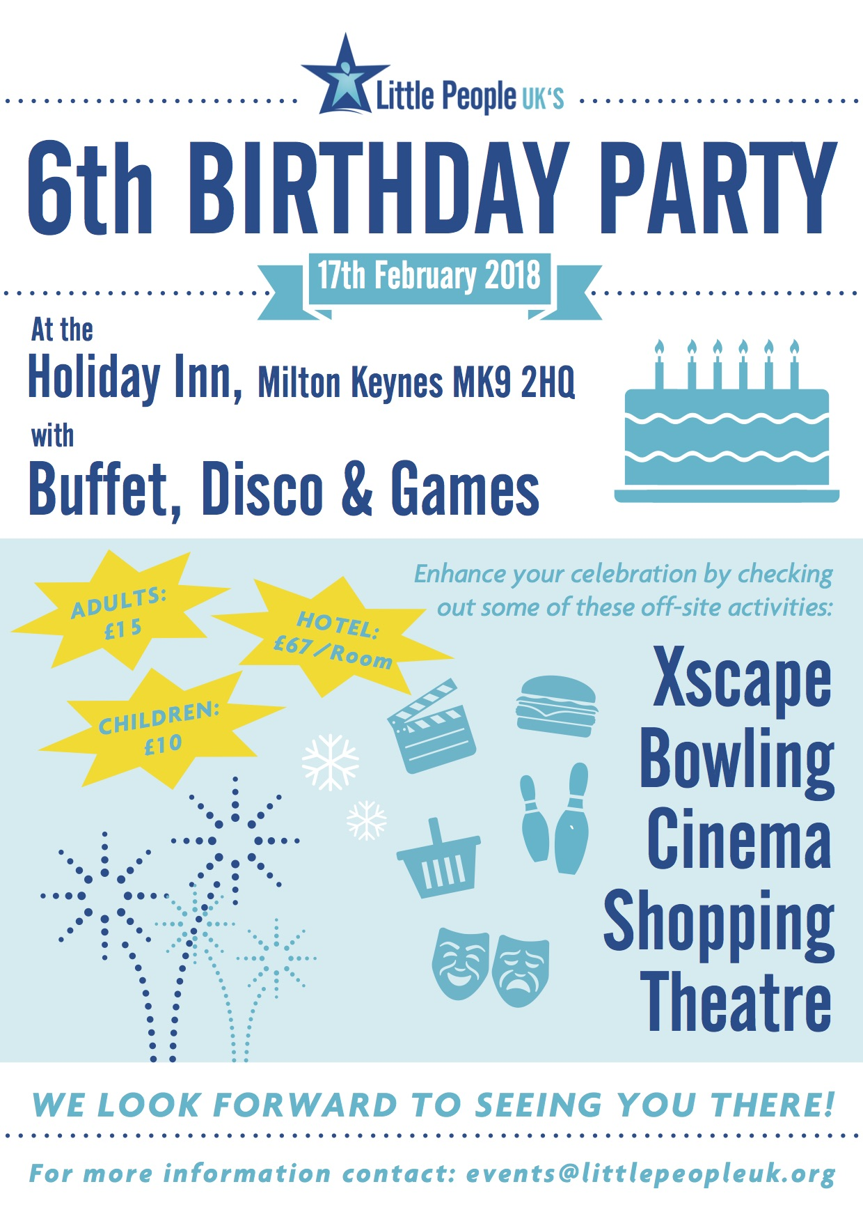 Little People UK 6th Birthday Party Poster copy