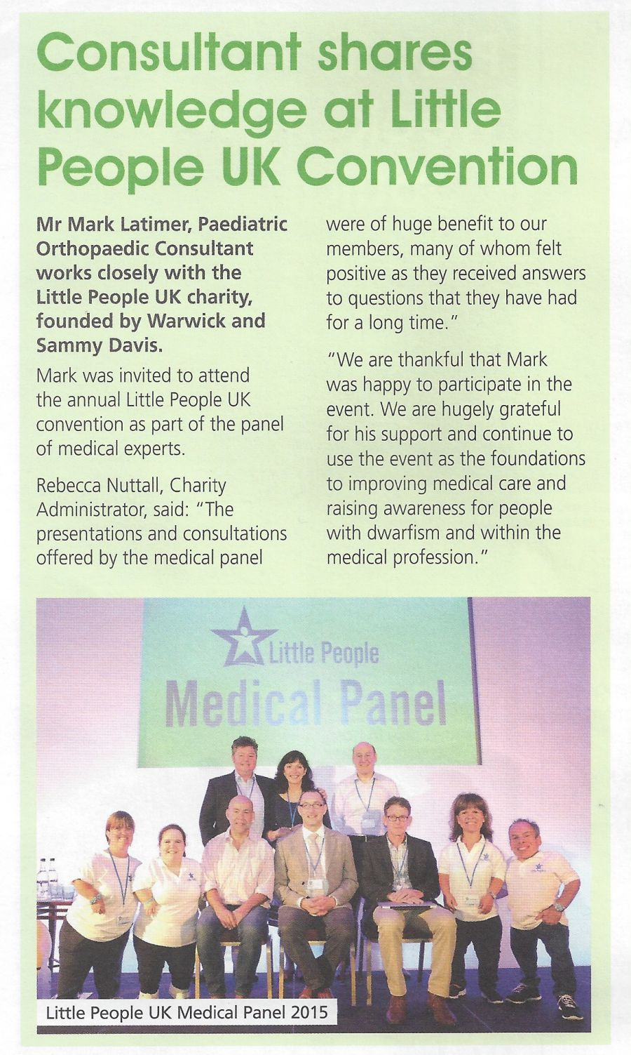Mark Latimer Medical Panel Article