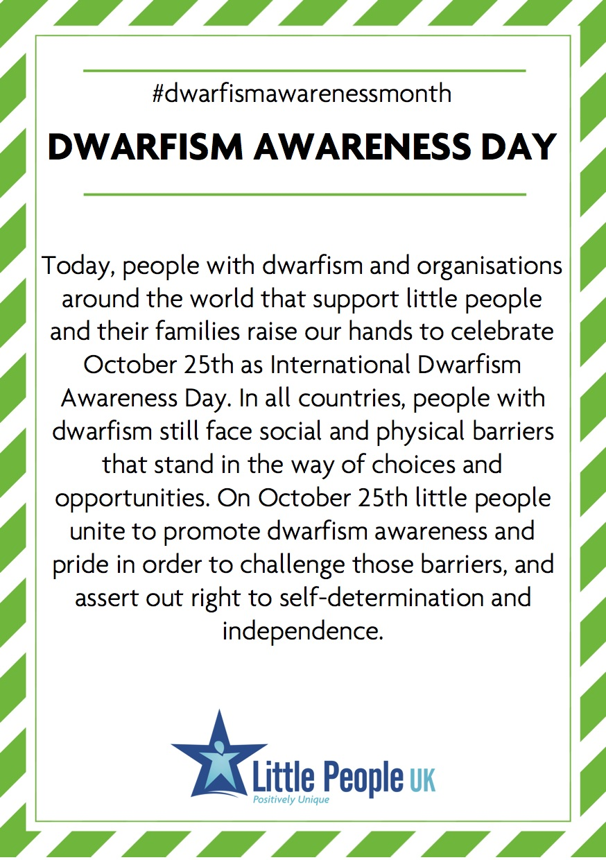 25. DAM 2018 Dwarfism Awareness Day