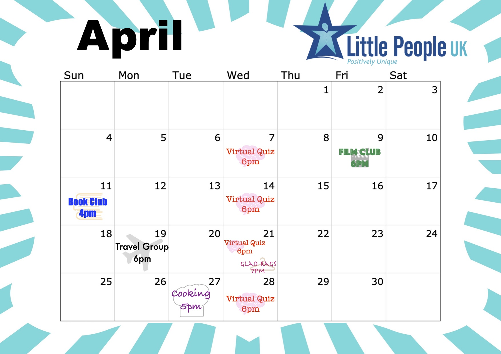 LPUK April online events CALENDAR